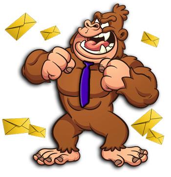 Image Of Gorilla Beating Chest